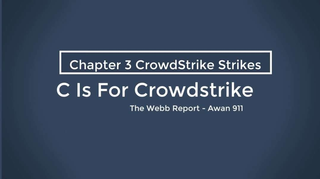 03 The Webb Report - Chapter Three - Crowdstrike Strikes Back With Fiona Hill Gang