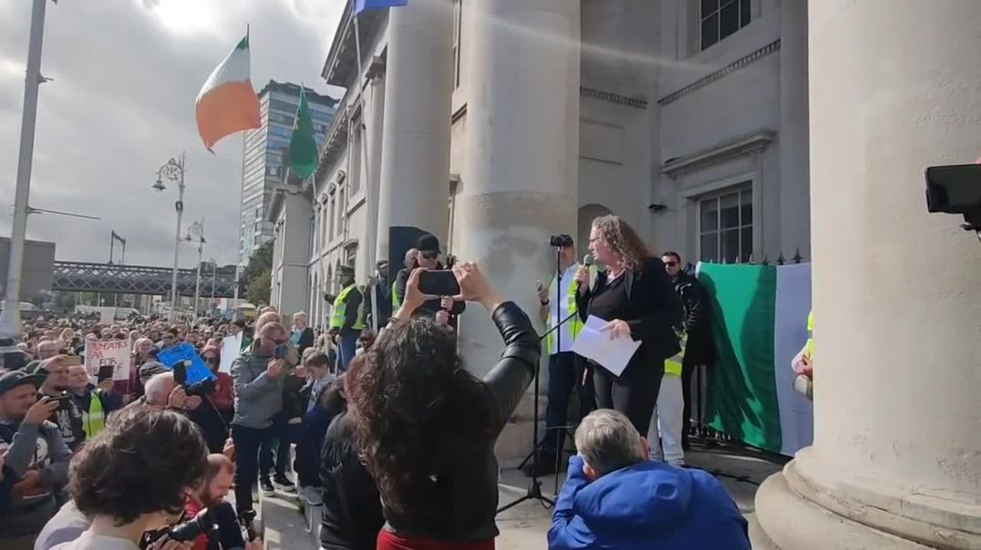 DOLORES CAHILL TIME FOR CHANGE PROTEST DUBIN AUGUST 22nd 2020