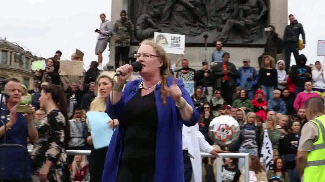 London Unite for Freedom Rally Protest 29-08-2020 Prof Dolores Cahill