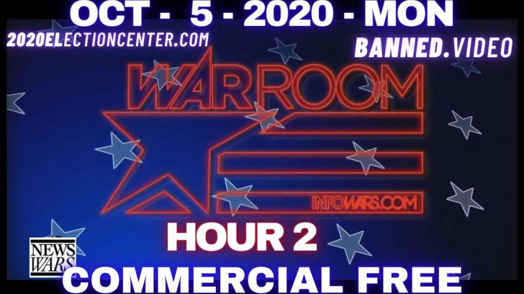 """#WarRoomShow HR2: Trump to leave Walter Reed medical and says, """"do not fear COVID!"""""""