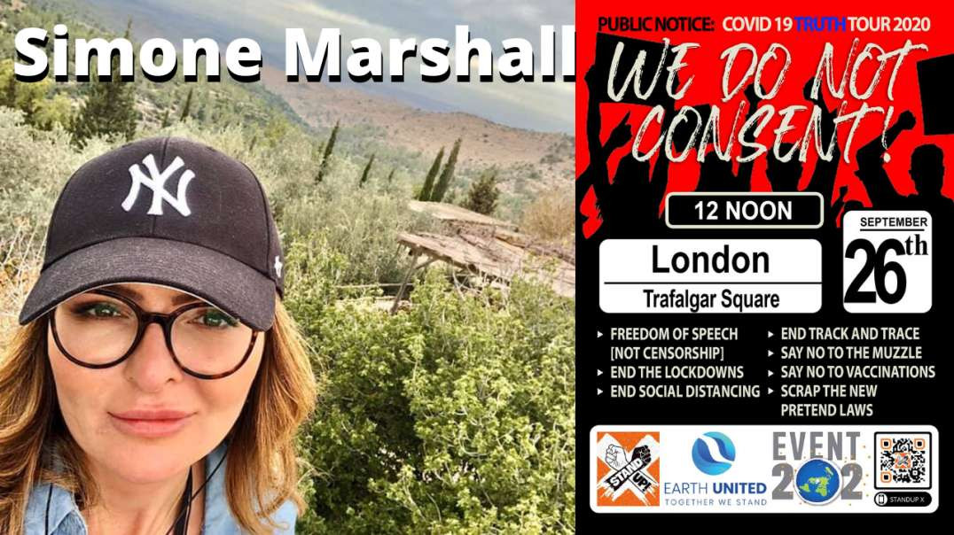 Sat 26th Sept 2020 We Do Not Consent Rally Simone Marshall [BANNED VIDEO]