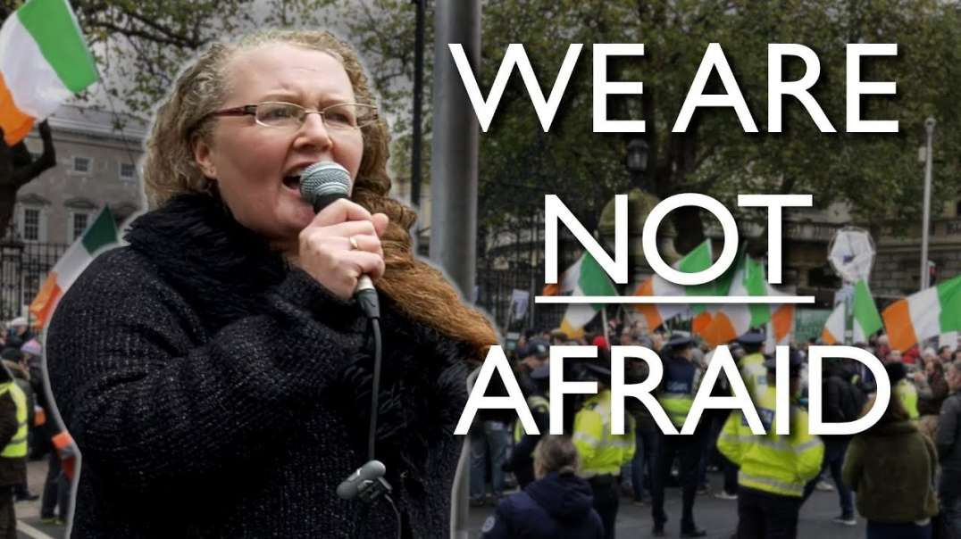 Prof. Dr Dolores Cahill - Protest Against Oppressive Government Restrictions and Mandates in Dublin