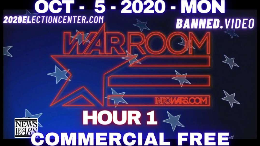 """#WarRoomShow HR1: Trump to leave Walter Reed medical and says, """"do not fear COVID!"""""""