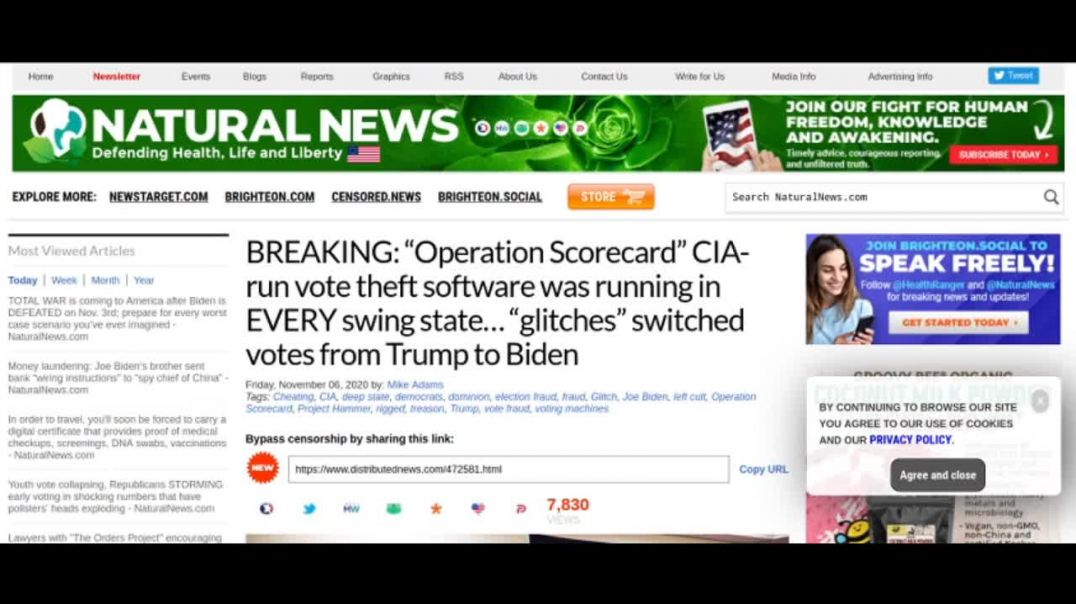 CIA-run vote theft software in EVERY swing state switched Trump votes to Biden