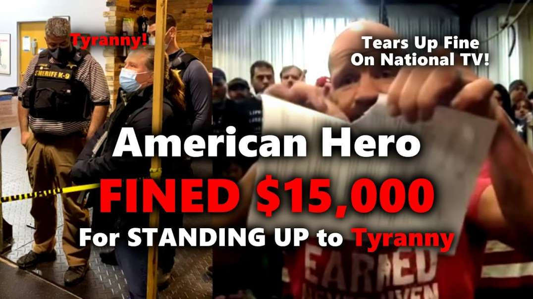 American Hero Robby Dinero FINED -15K For Standing Against TYRANNY in Buffalo New York!