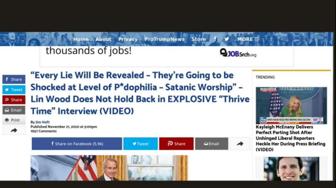"""Lin Wood: """"Every Lie Will Be Revealed – They're Going to be Shocked at Level of P*dophilia – Satanic"""