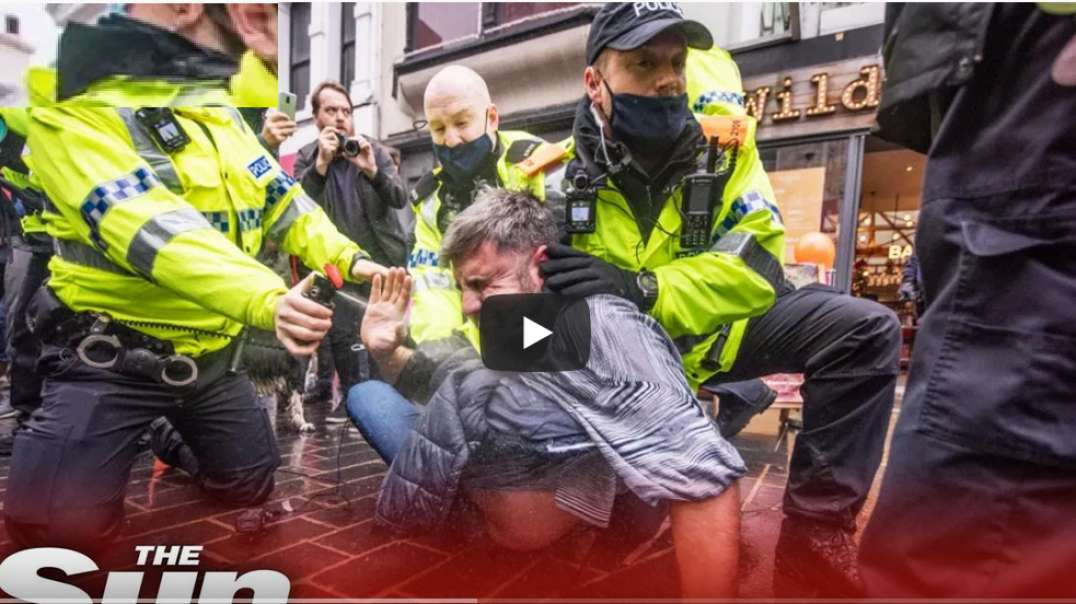 Liverpool anti Covid-19 lockdown - protesters clash with cops - NWO BS Headlines!