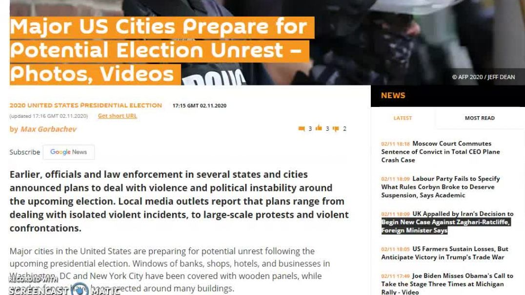 Major U S Cities Prepare For Election Unrest