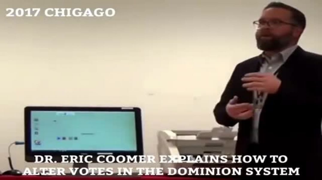 Eric Coomer Explains How To Alter Votes In The Dominion Voting System