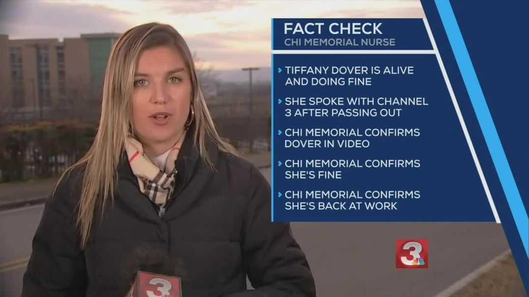 Fact Check - Nurse Tiffany Dover who fainted after getting COVID-19 vaccine is doing fine!