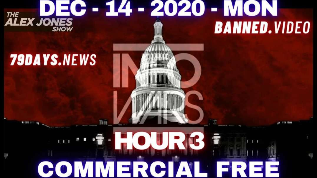 #AlexJonesShow HR3: Alex Is Going to Shoot You Straight on Where Our Republic & The World Stand