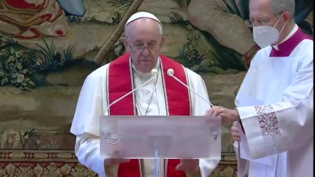Pope calls for (vaccines for all) in Christmas address