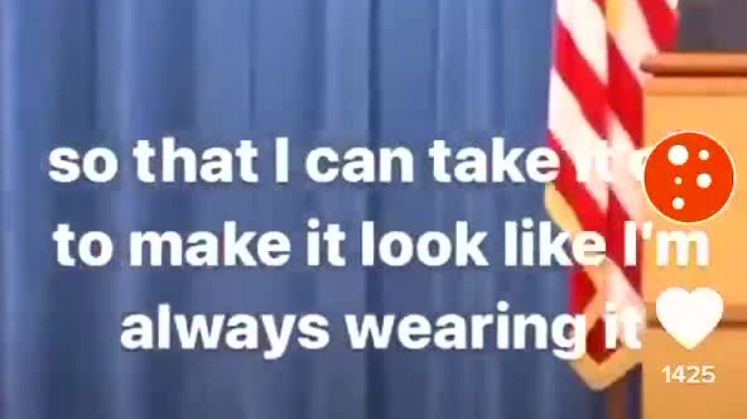 Department of Justice (DOJ) puts mask on, to take it off - to make it look like he always wears it