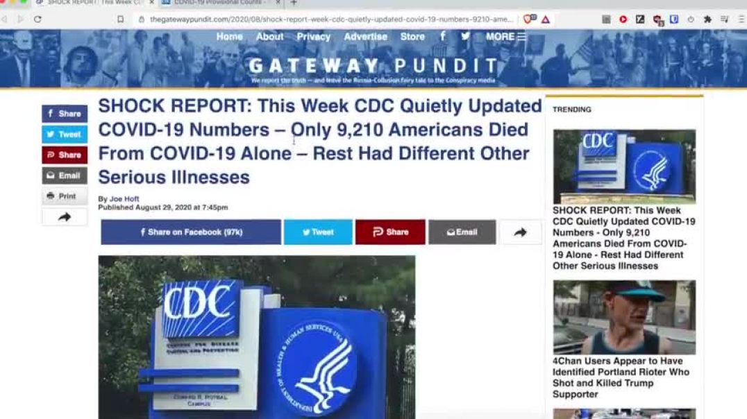 CDC UPDATING COVID NUMBERS