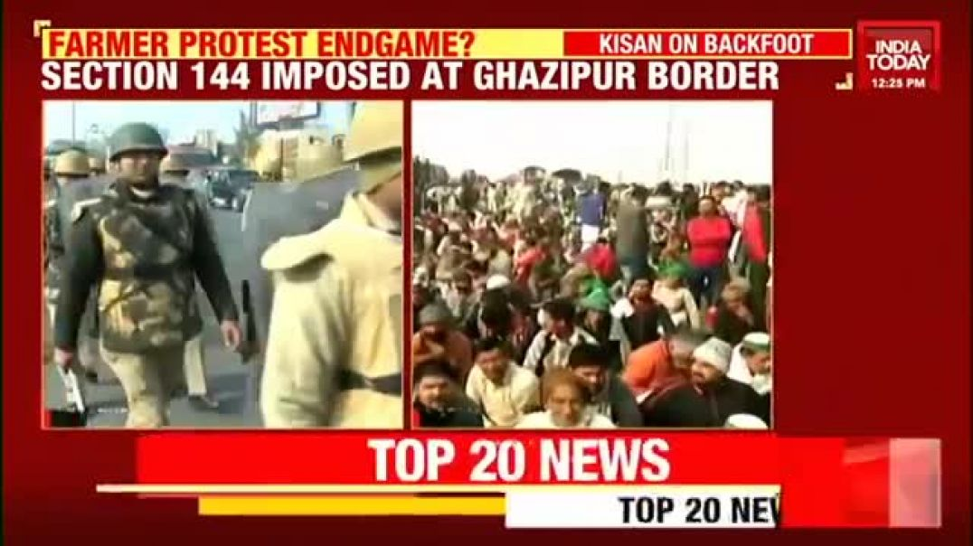 Farmers Protest- Section 144 Imposed At Ghazipur Border As Farmers Begin To Hudd