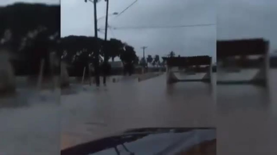Strong floods occurred in the city of Nombre de Dios in the province of Colon, P