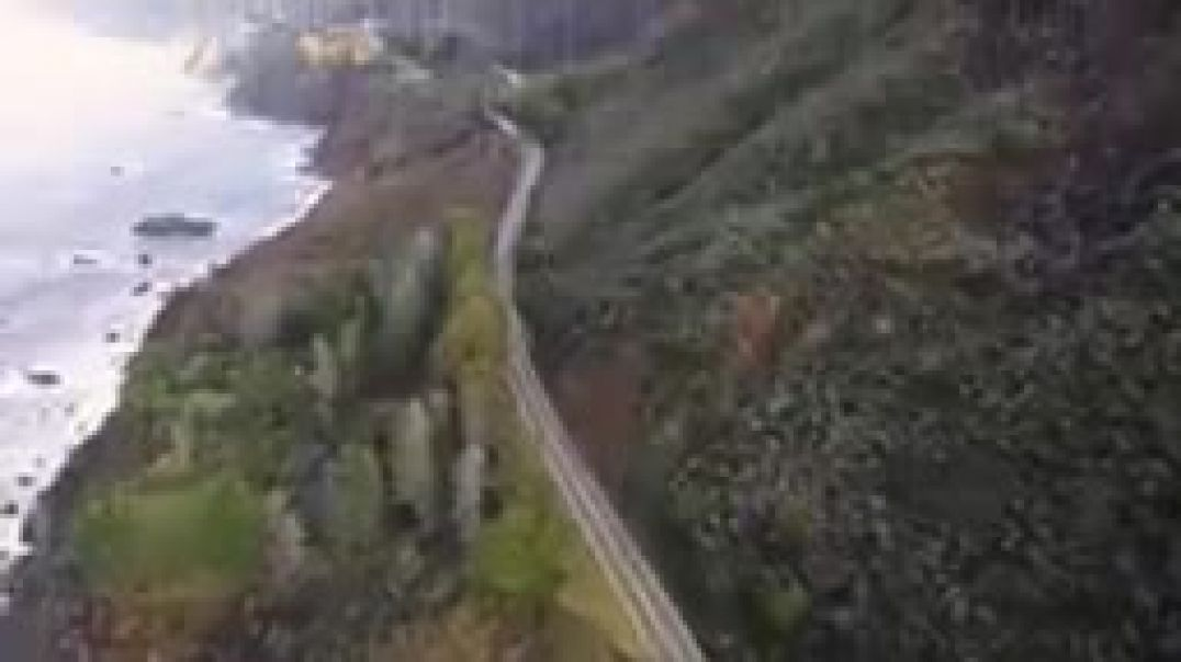 Storm washes out section of Highway 1 along Big Sur coast_144p