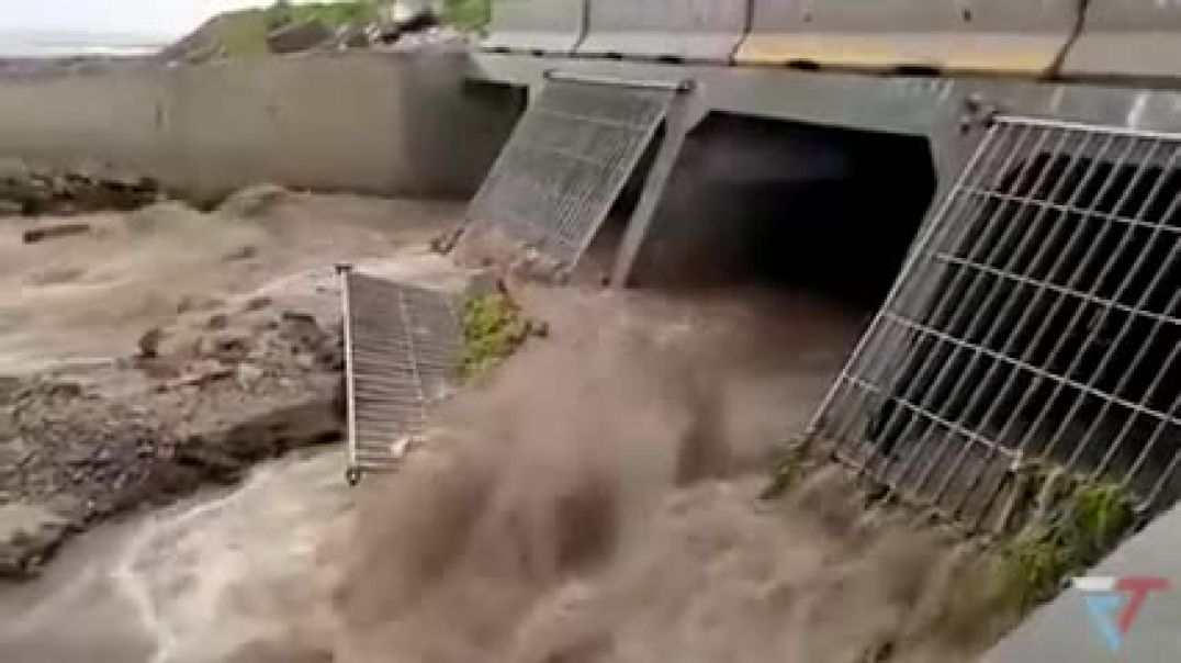 A LOT of Water - it doesn't matter- Flooding in Casablanca, Morocco, Africa