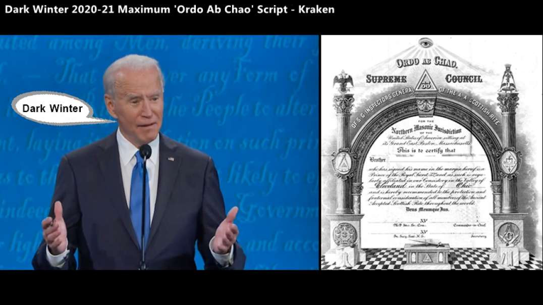 """'Stolen Election' A Script - DrkWn Max Ordo-Ab-Chao Plan..""""Will Be Biblical"""""""