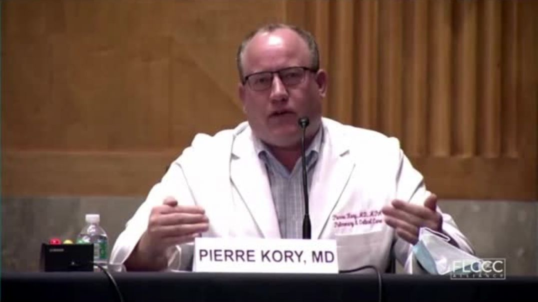Dr. Pierre Kory testifies to Senate Committee about Ivermectin, Dec. 8, 2020