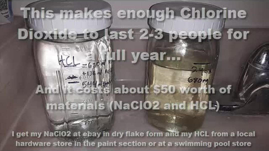 AI.  MMS QUICK-VIDS:  How to make 24 oz of materials for Chlorine Dioxide in under 5 minutes