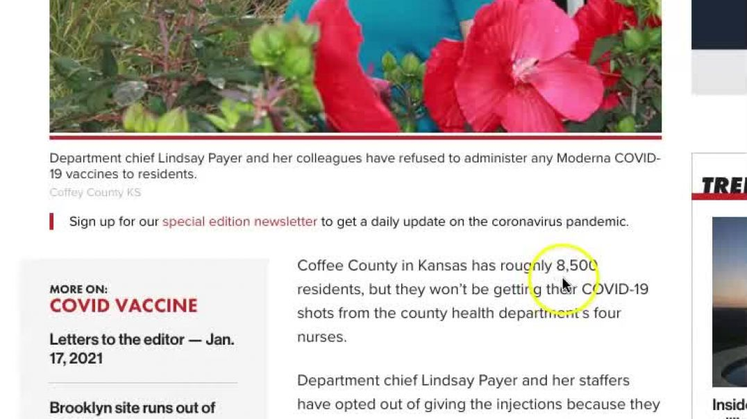 Let's Join these Kansas Nurses in Saying No to the COVID-19 Vaccination and Save Lives