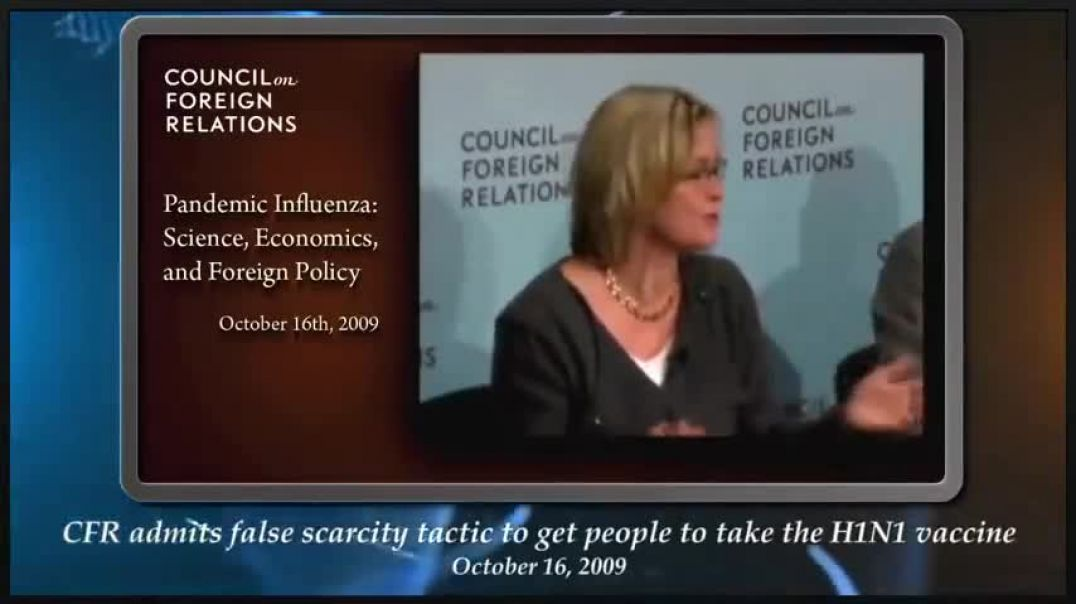 CFR Admits Creating Demand By Faking Scarcity Of The Flu Shot