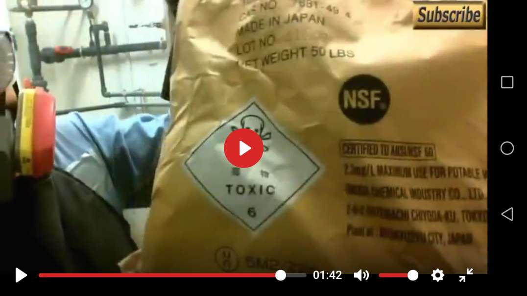 Look At The PPE Required To Dump Toxic Fluoride Into Our Water Supply, (Water Distiller Link Below)