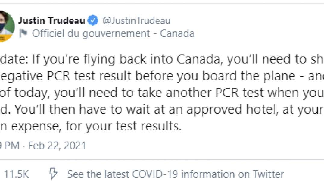 Man Flying Back Into Canada Refuses Airport Covid19 Test