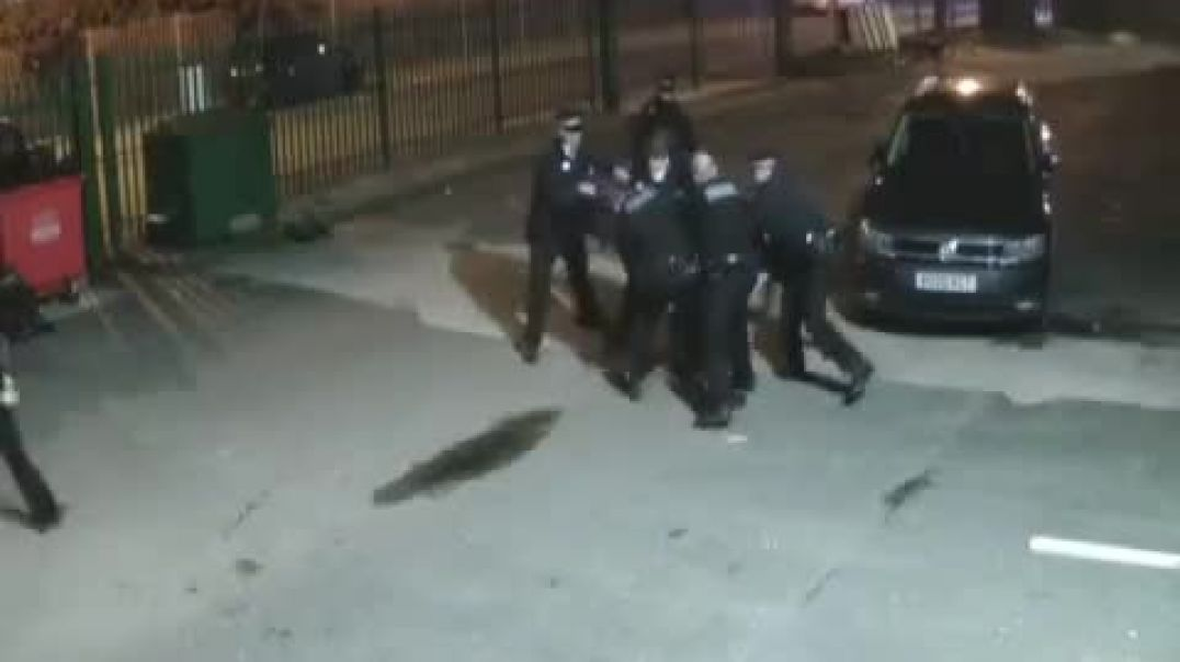 MOB OF POLICE SWARM LIVERPOOL GYM OWNER