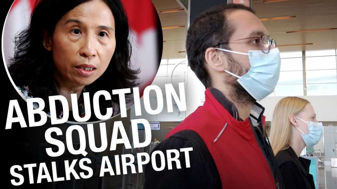 Confronting Trudeau's NWO COVID quarantine agents in the Calgary airport!
