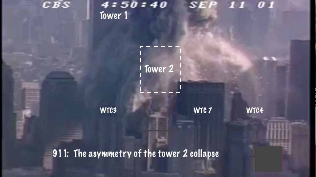 911: The asymmetry of the collapse of tower 2