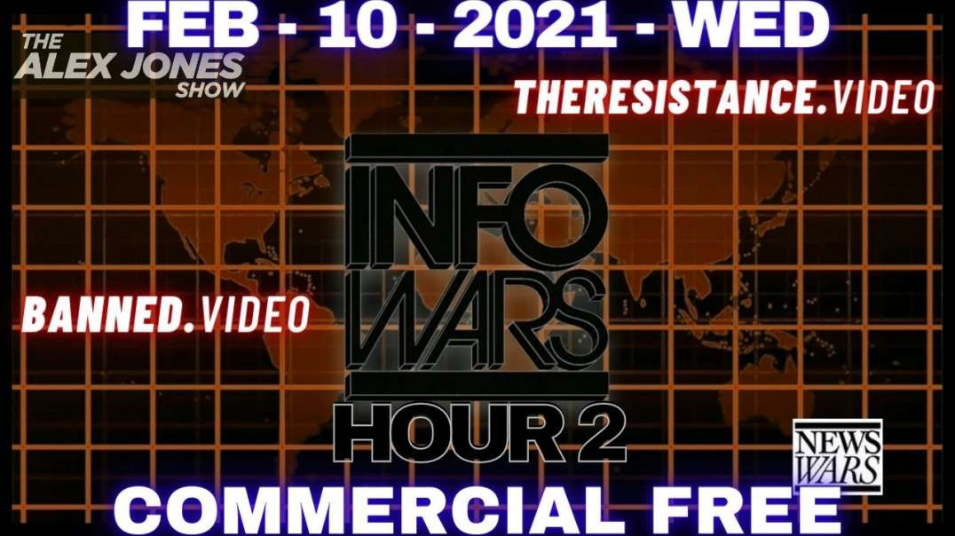 ⁣#AlexJonesShow HR2: Coverage of The Hoax Senate Impeachment and The Path to Defeating The Globalist