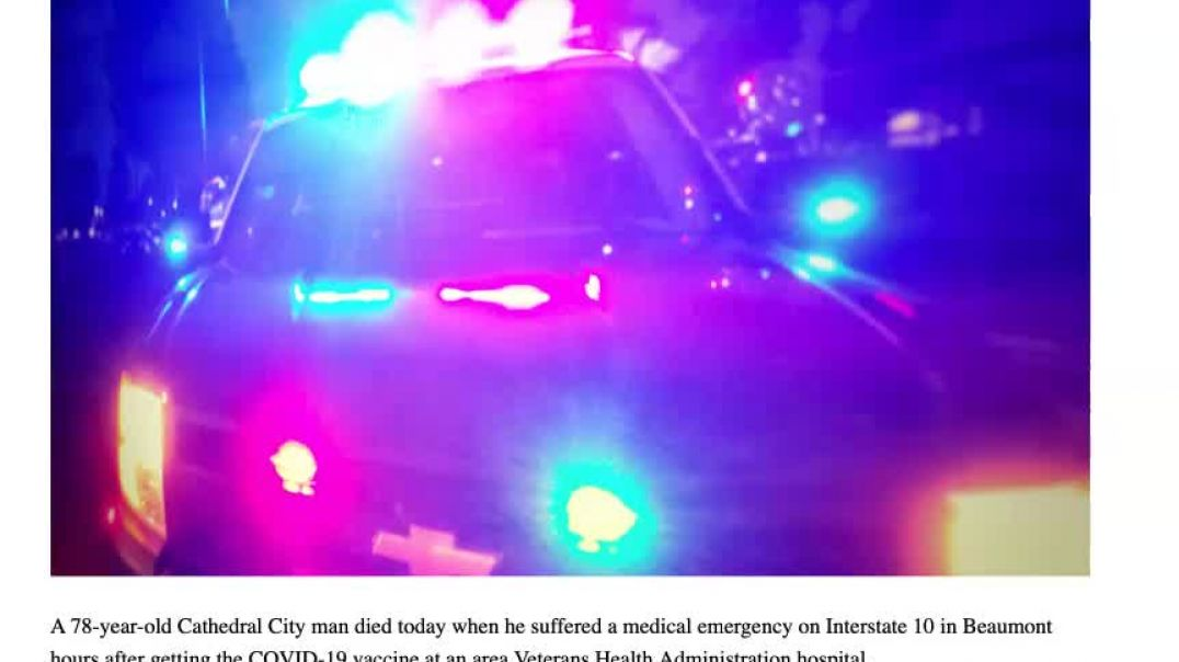 California Man Drops Dead On Freeway Hours After Getting the Toxic mRNA Shot