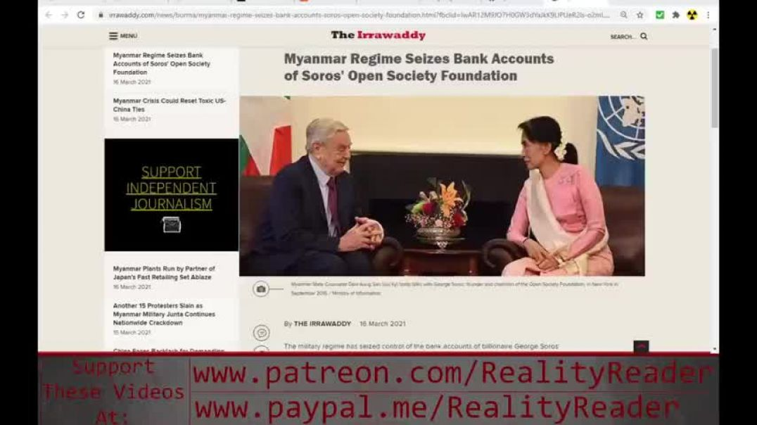 MYANMAR GOVERNMENT SEIZES BANK ACCOUNTS OF GEORGE SOROS!!