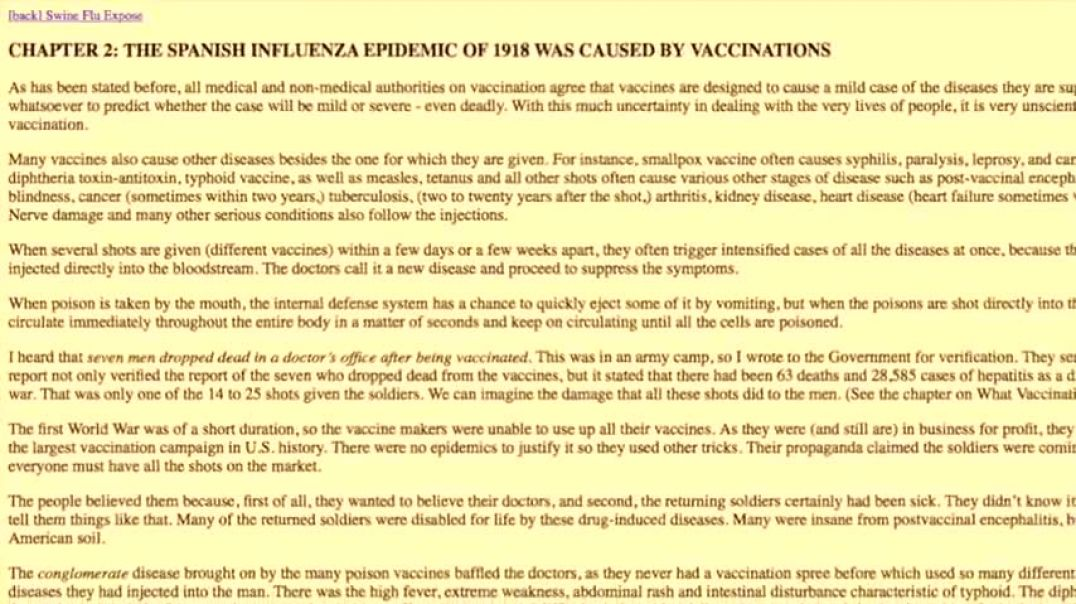 Excerpt from The Poisoned Needle (1957) - The Spanish Flu Hoax
