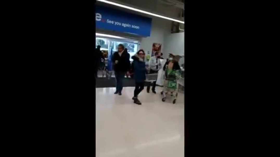 Group Of Maskless Shoppers Have An Outing To Their Local Supermarket