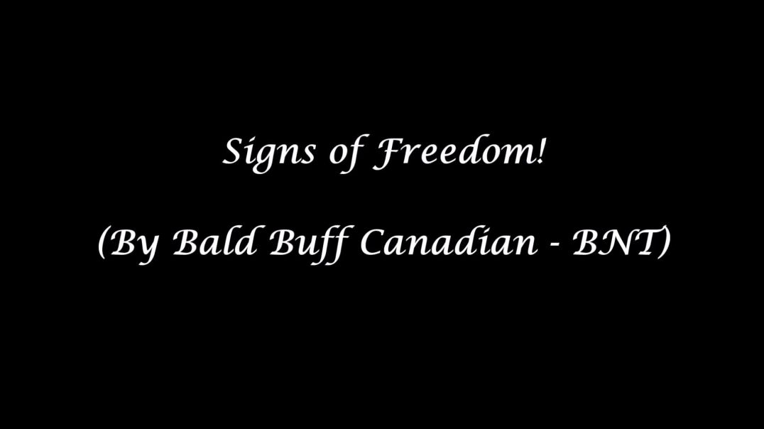 Signs of Freedom! (Freethinker Media Version - By Bald Buff Canadian)