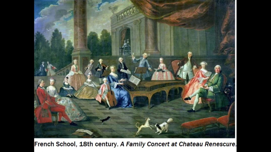 Musicians of the baroque period depicted in artworks
