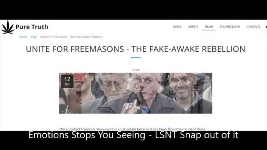 The Fake AWAKE Rebellion Take Your Emotions Out You Cannot SEE - Nothings Changed They Still Coming