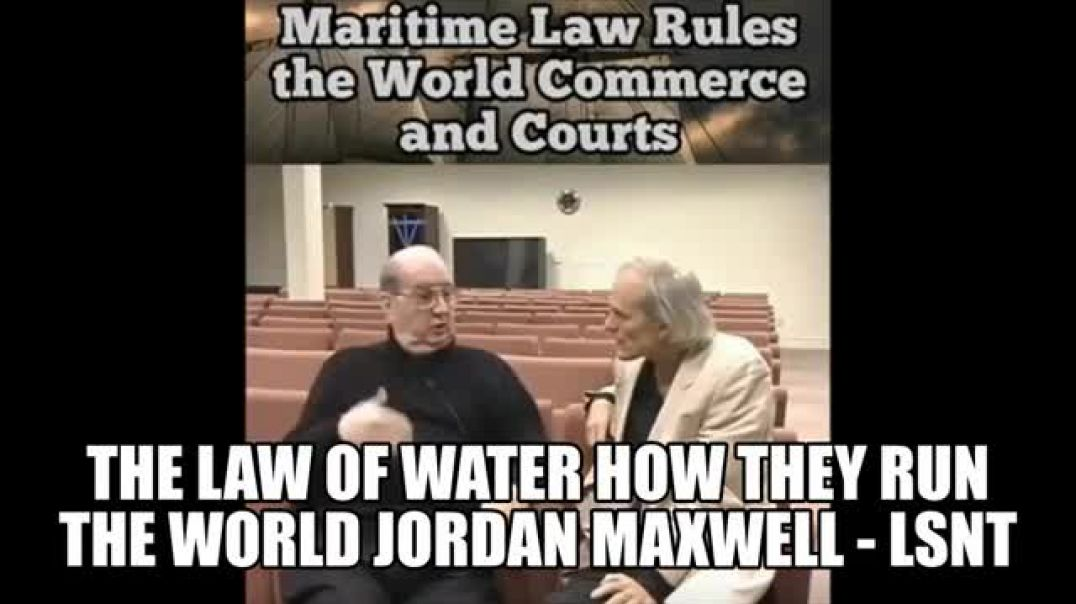The Law of Water How They Managed To Take Over The World With Words and Trickery Jordan Maxwell