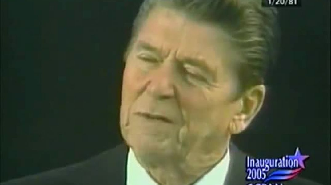 RONALD REAGAN  'GOVERNMENT IS THE PROBLEM'