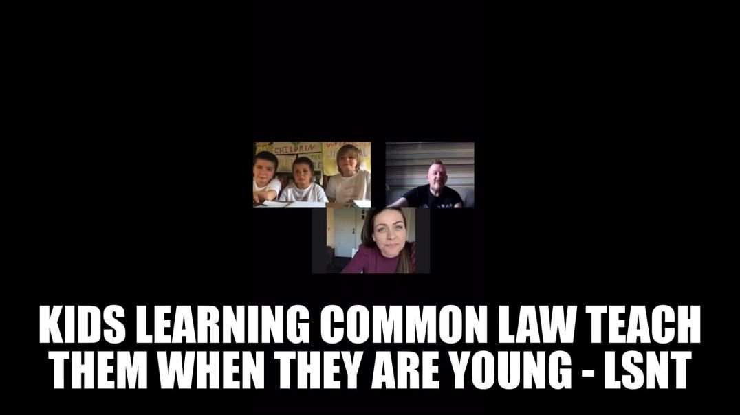 Kids Learning Common Law Teach Them When They Are Young Words Are BONDAGE