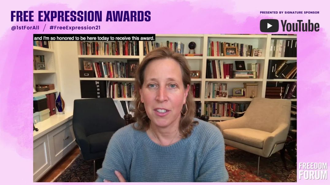 YOUTUBE CEO WINS 'FREE EXPRESSION AWARD' SPONSORED BY YOUTUBE