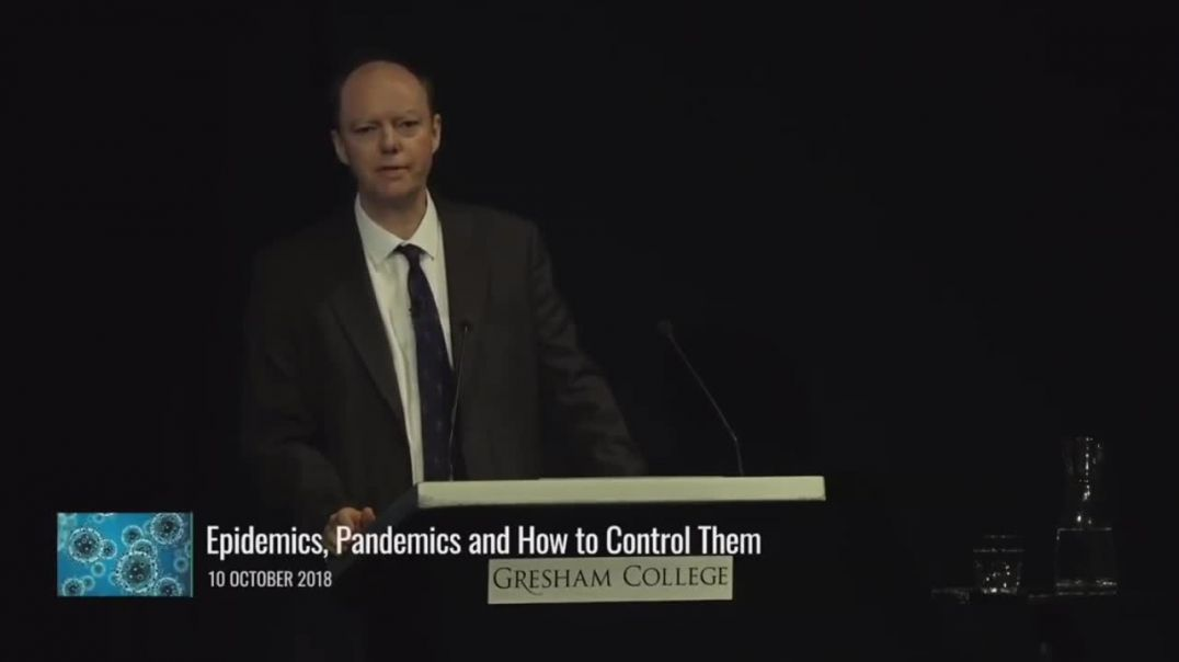 Chris Witty in 2018 - Proves they all know Covid is bullshit!!