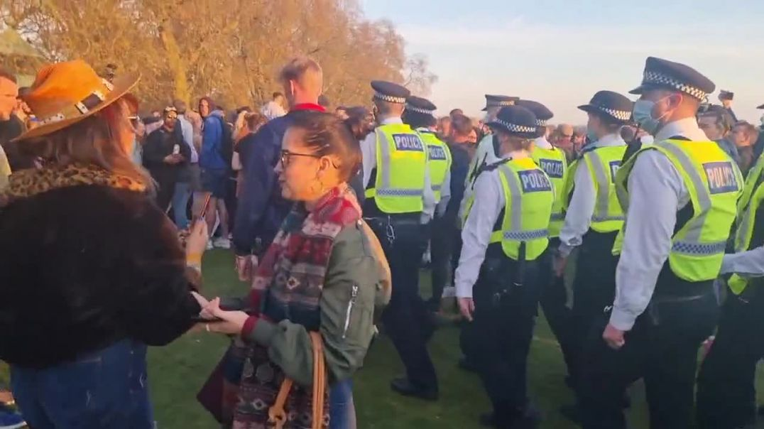 Corrupt cops cause unrest at peaceful freedom march in London 24-4-21