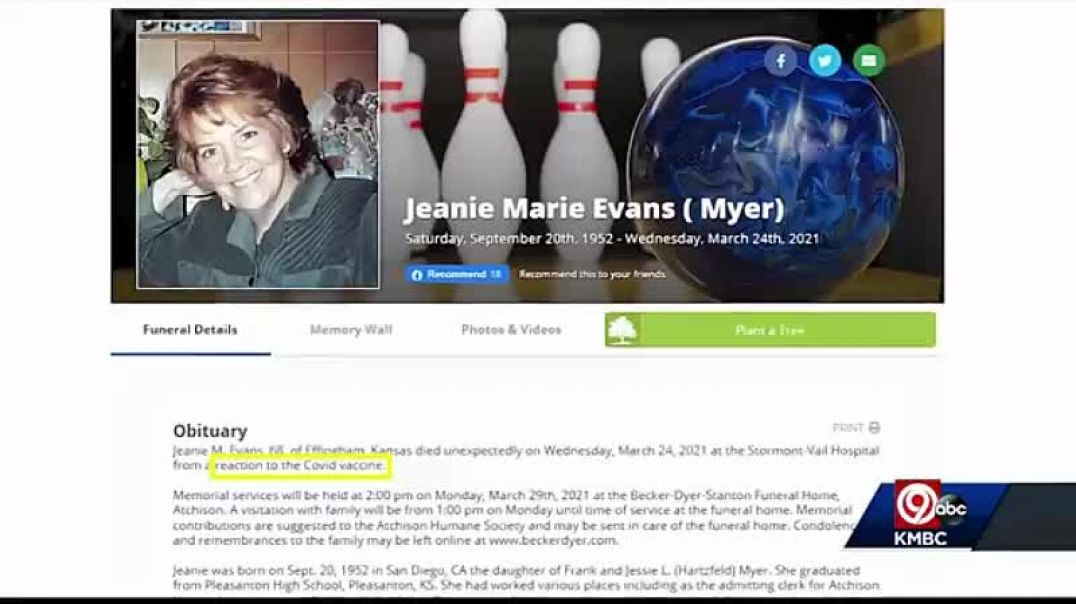 Another lady DIES after the DEADLY COVID VACCINE