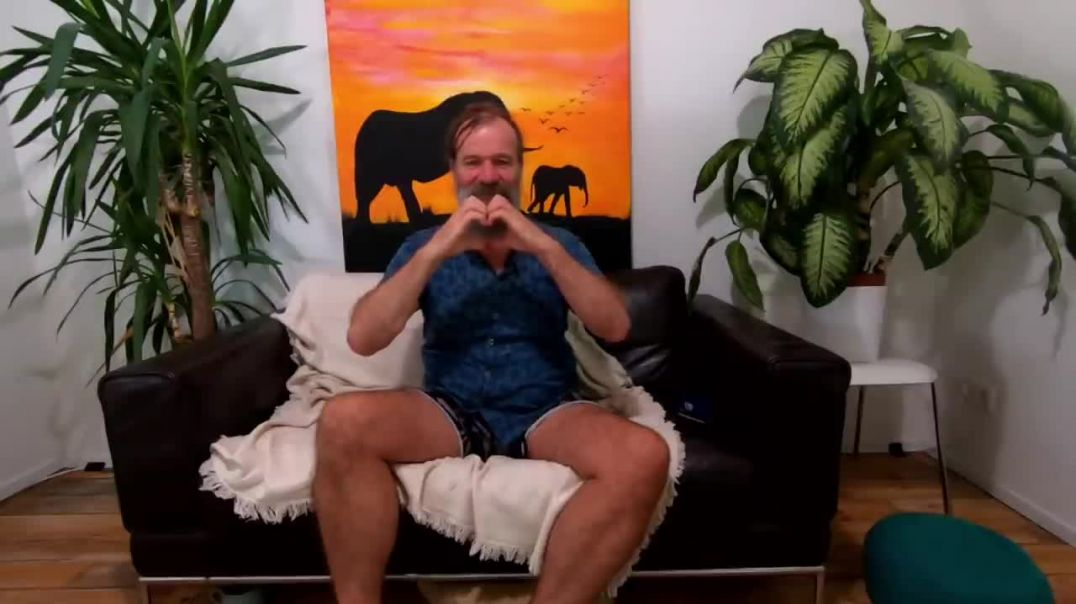 Breathing session with Wim Hof.