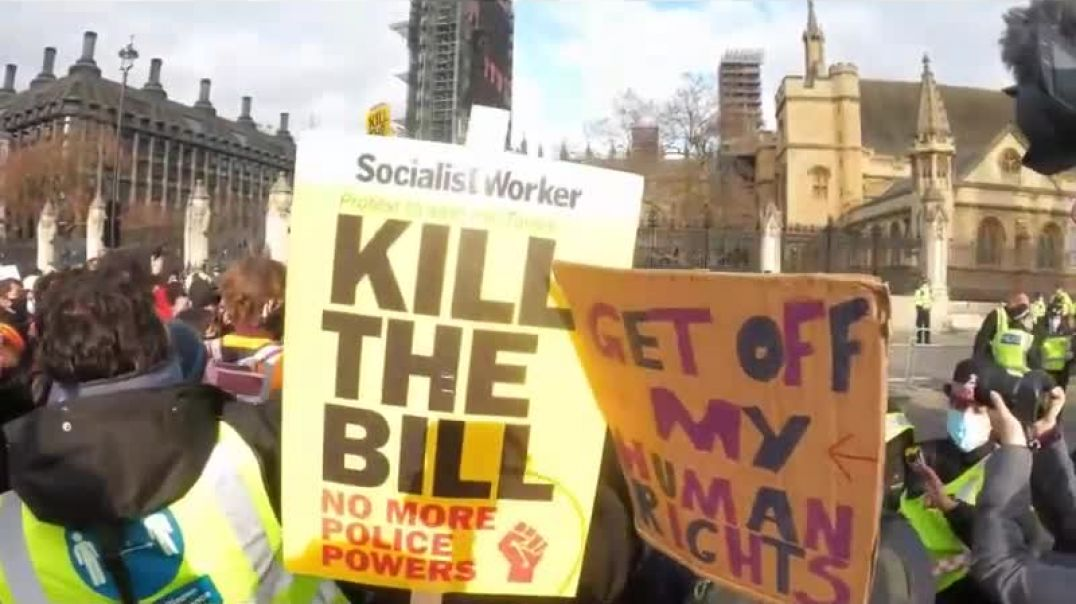 UK Police brutality at the kill the bill protest on 3rd April