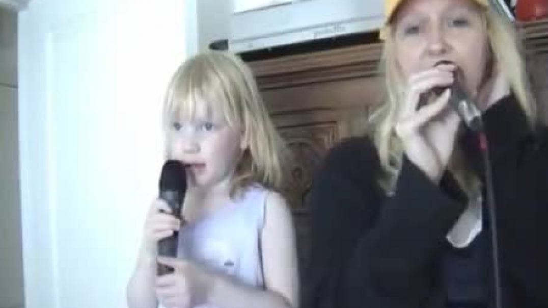 "A very young Bethany and Mum, having fun singing ""Mercy Seat"""